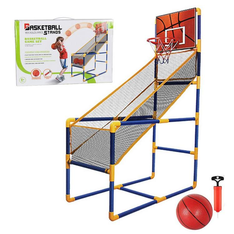 Hoops Game Indoors Outdoors Children Kids Basketball Shootout Set with Ball
