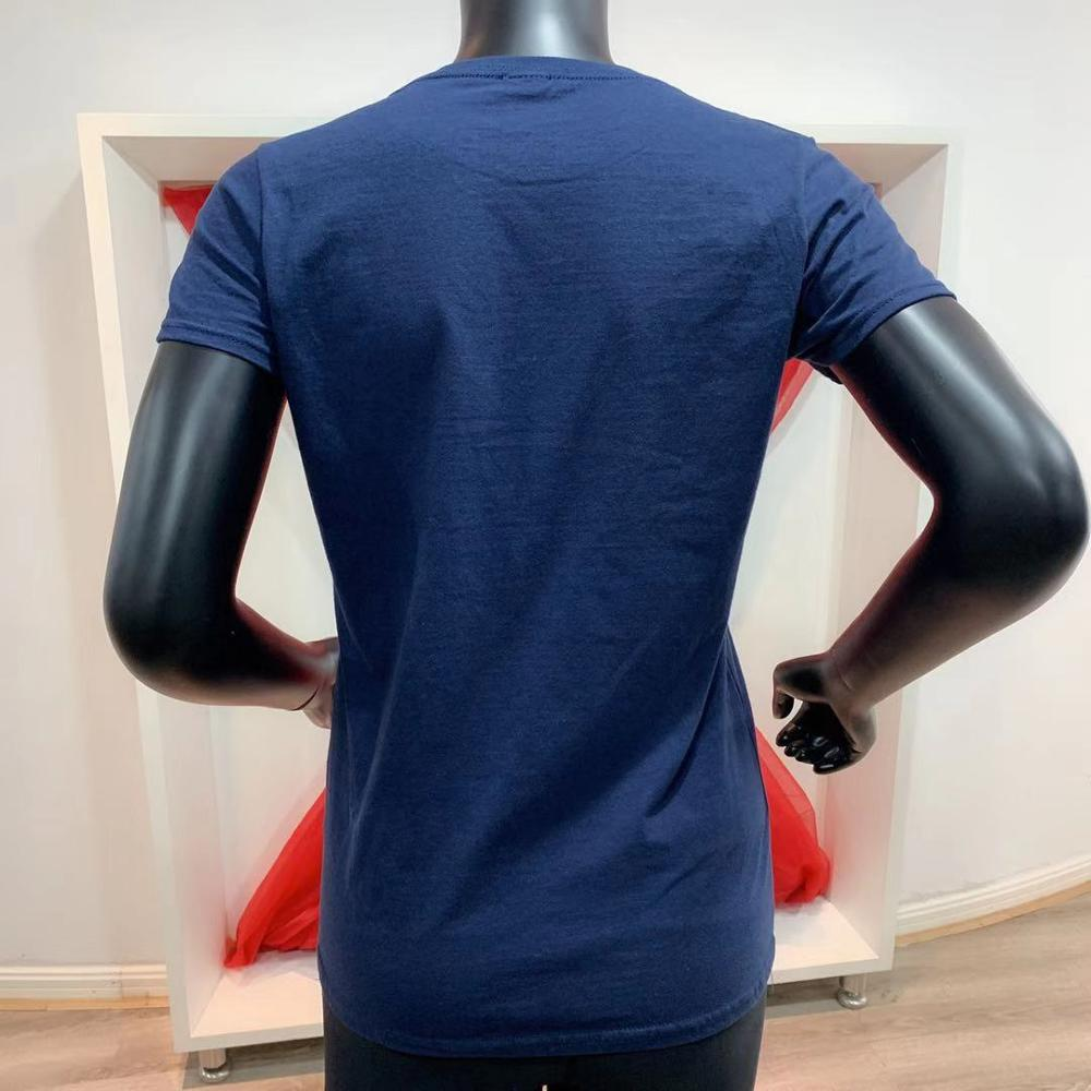 Новые модные солнцезащитные очки с печатью логотипа на заказ, 180gsm 100% полотняного плетения из чистого хлопка футболки с О-образным вырезом футболка без рисунка для женщин