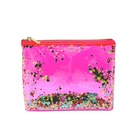 Bag Sequin Bag Fashionable PVC Packaging Bag With Sequin Glitter Waterproof Make Up Cosmetic Bag