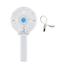 Горячая мини ручной вентилятор ABS портативный вентилятор для офиса на открытом воздухе бытовой путешествия сильный ветер вентилятор(Китай)