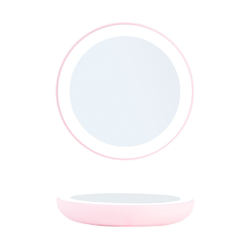 Mini Portable Vanity Battery 12 LED Mirror Hand Pocket Magic Makeup Mirror With Led Light