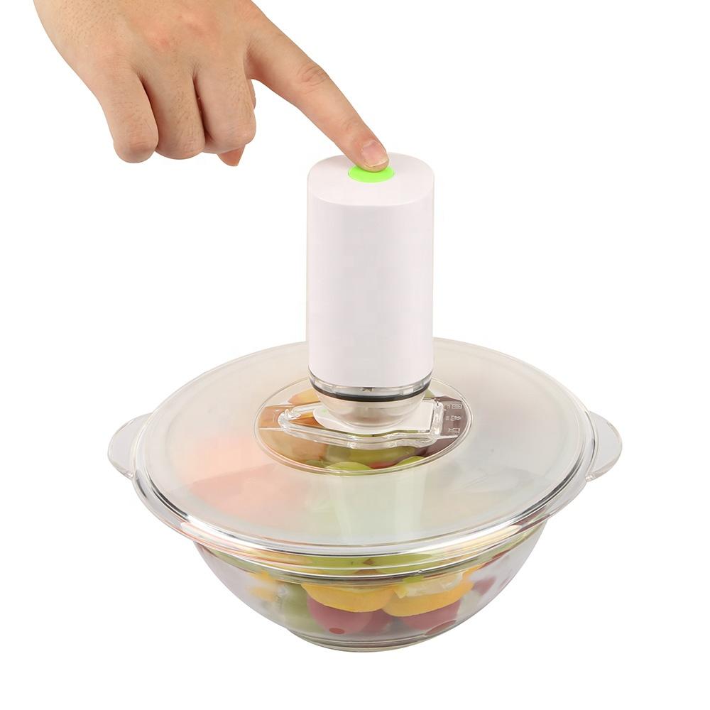 Многоразовые пластиковые вакуумные крышки пищевого класса с крышкой для вакуумного насоса и крышкой для вакуумного уплотнения