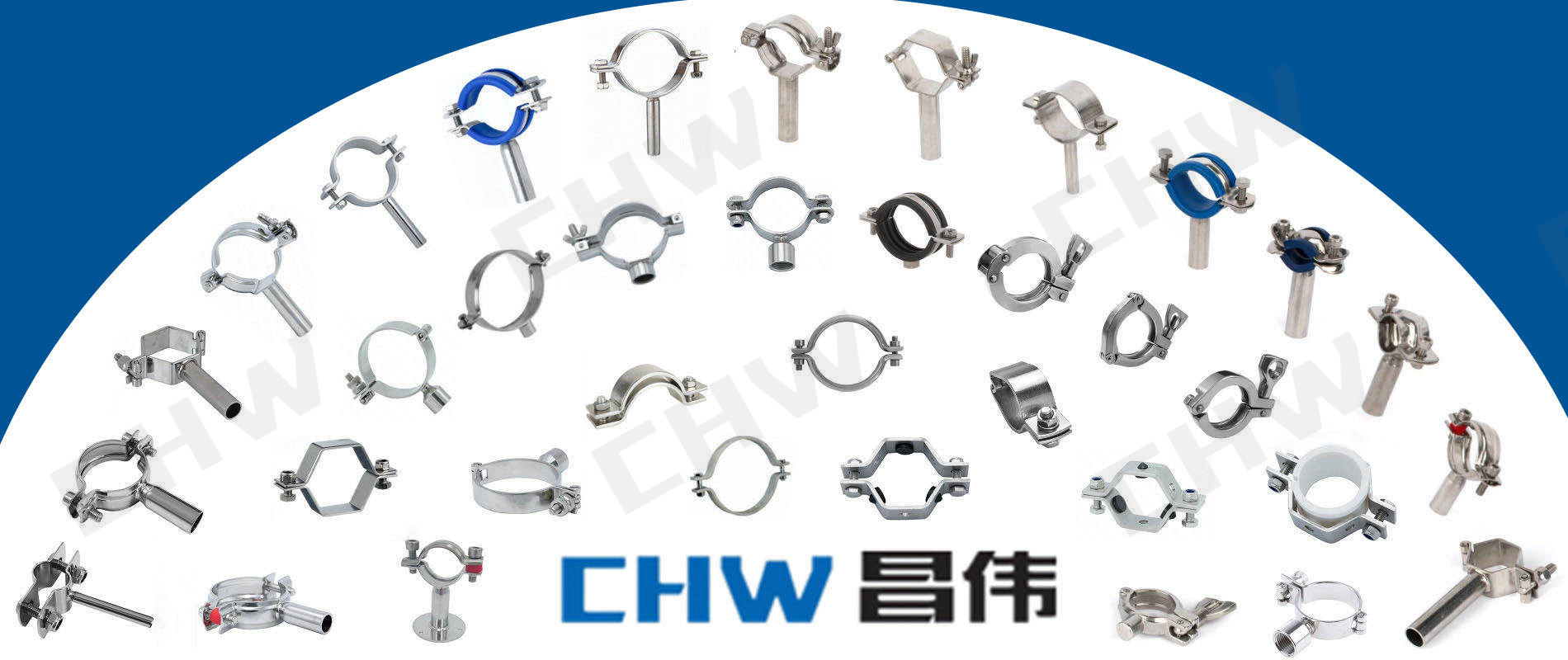 stainless steel clamp with long shaft