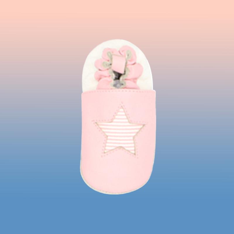 Оптовая продажа 2021 мягкие складные кожаные 100% розовые модные верхние дизайнерские детские туфли для девочек