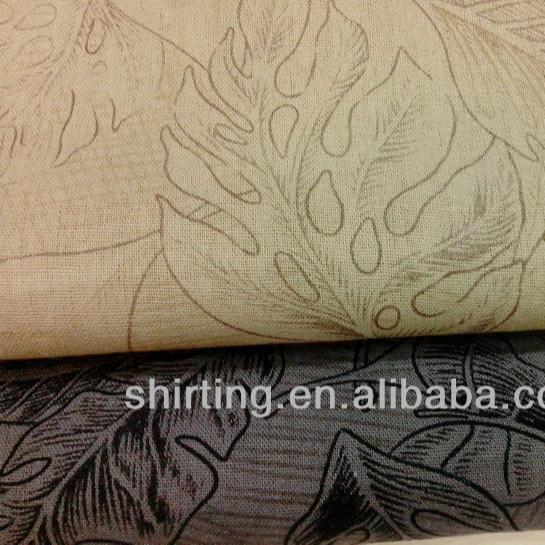 Льняная/хлопчатобумажная ткань с принтом для брюк/одежды оптом высокого качества