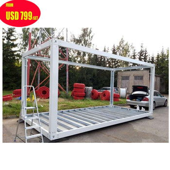 china low cost 20ft 40ft prefabricated prefab flat pack mobile modular iso shipping container frames homes house