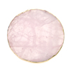 round rose quartz coaster