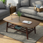 Square Wooden Table European Modern Simple Home 4 Feet Square Solid Wooden Side Coffee Table