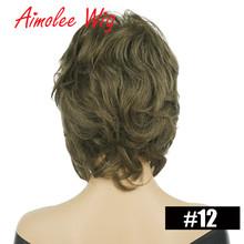 Пушистые короткие парики пепельный серый черный Омбре выделяет 70% человеческие волосы парик с боковой челкой для женщин синтетические вече...(Китай)