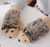 Herfst en winter verdikte warm vinger leuke knit student fashion hedgehog handschoenen