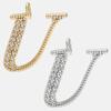 U - 18k gold or rhodium