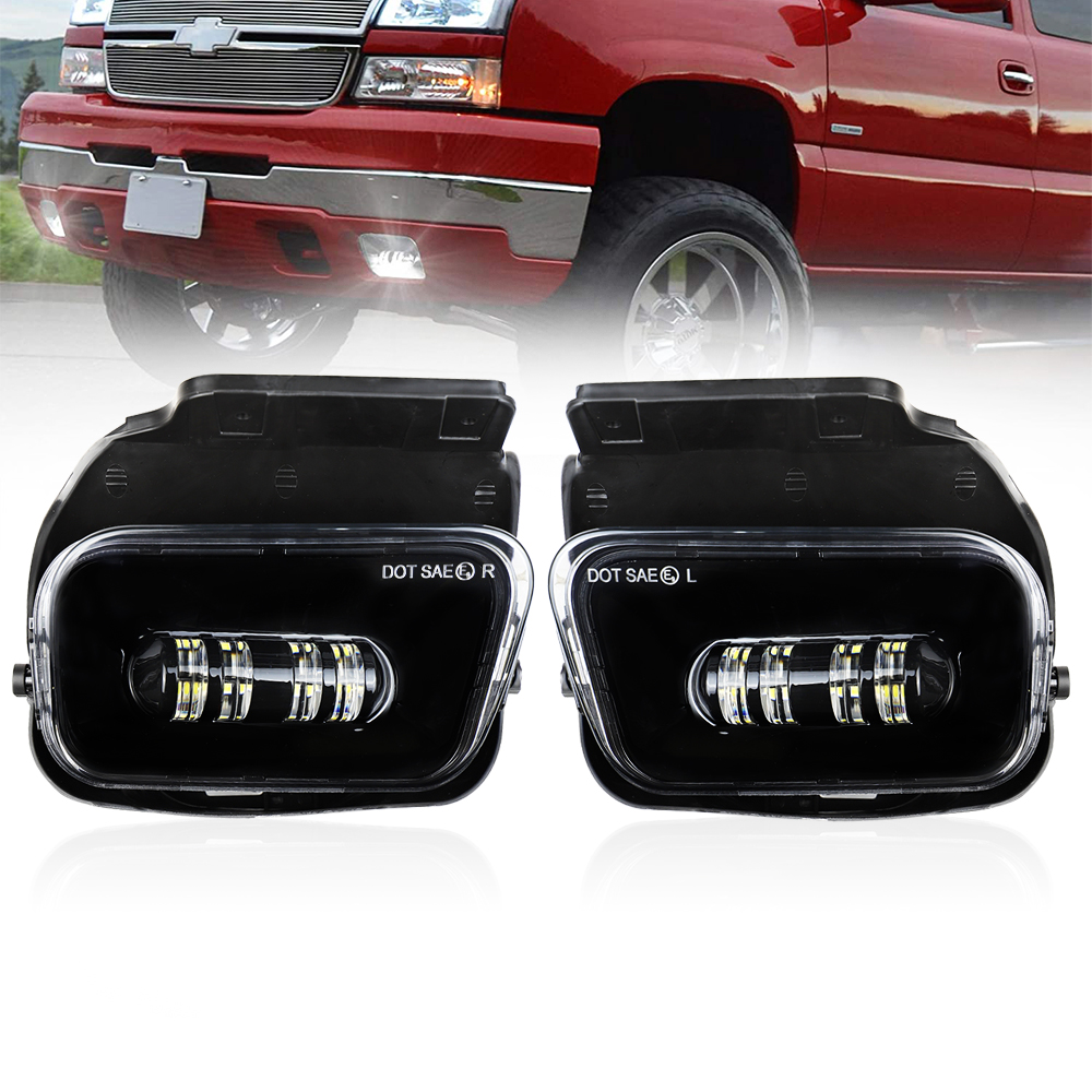 2021 Atubeix Kits For Chevy Silverado 2003-2006 1500 2500 3500 Models Led Fog Light Front Bumper Lamps