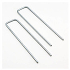 U Nail Galvanized U Shape Pins Ground Grass Cloth Steel Nail