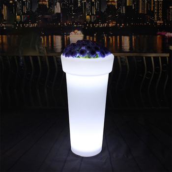 LED luminous flowerpot light outdoor garden light garden terrace waterproof lawn light Christmas party landscape decoration lamp