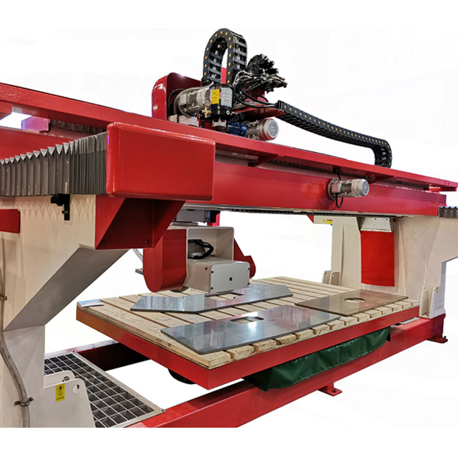 HUALONG stone machinery HLSQ-650 granite marble cutting Full Automatic Bridge Saw Machine