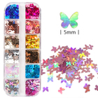 Nail Decoration Nail Decoration 2021 Newest Amazon Hot Nail Art Decoration DIY Crafting 3D Holographic Nail Art Glitters Butterfly Nail Glitter