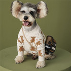 Knitted New Spring Fall Fashion Design Cardigan Bear Knitted Sweater Pet Clothing Dog Clothes