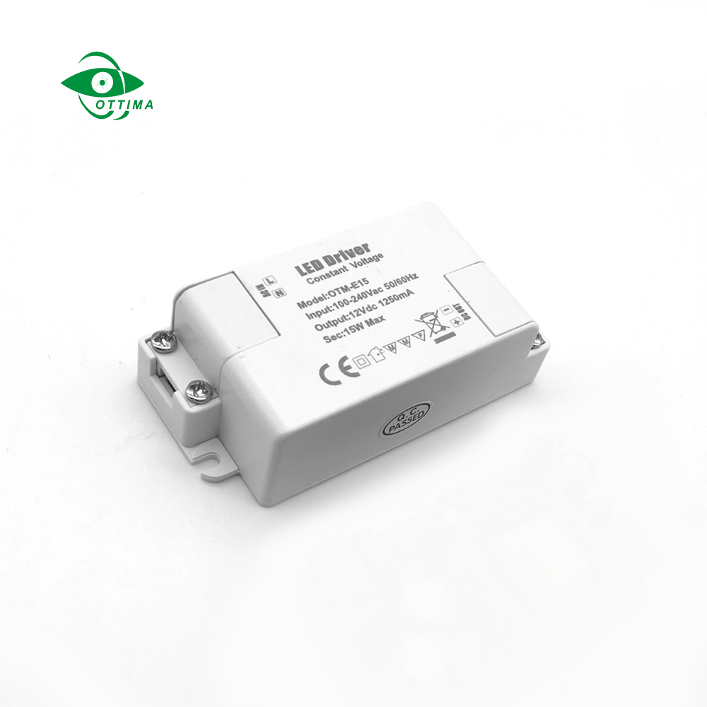 Ottima Tuv Ce Approved 15w 12v 24v 1.25A Constant Voltage Led Driver For Mr16 Strip Light