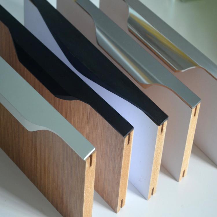 Пользовательский алюминиевый профиль, кромка шкафа, анодированный алюминиевый профиль ручки от китайского завода