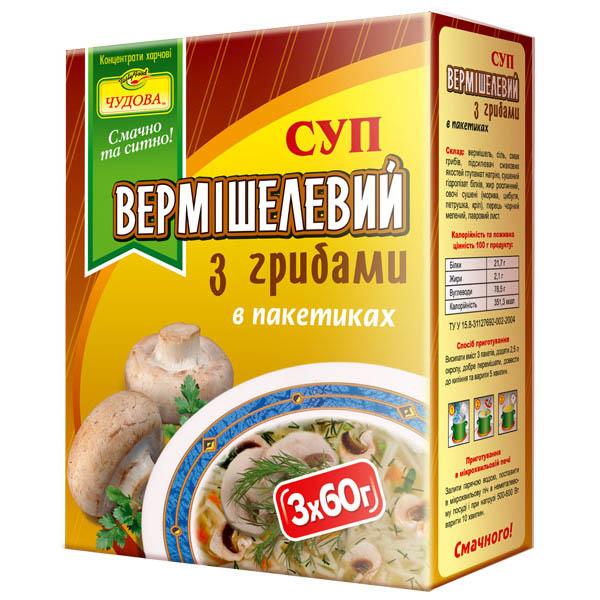 Вермишель с грибами Бульонный бульон