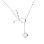 Sterling Joycuff 925 Sterling Silver Medical Pendant Necklace Nurse Jewelry Personalized Engraved Letter Women Men