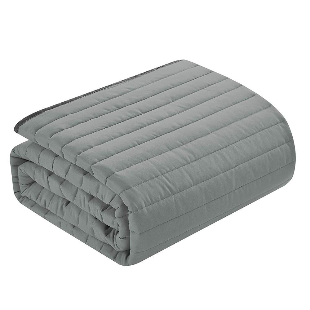 Однотонные двусторонние одеяла и одеяла из полиэстера-1 покрывало 90x86 дюймов + 2 одеяла 20x36 дюймов