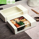 Paper Container Disposable Take Out Container Easy Green Disposable Take Away White Sushi Paper Container With Window