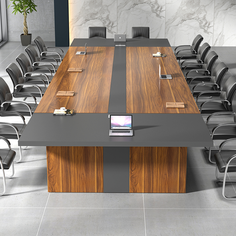 Walnut Color Thickening Of The Desktop Modern Conference Table Solid Wood