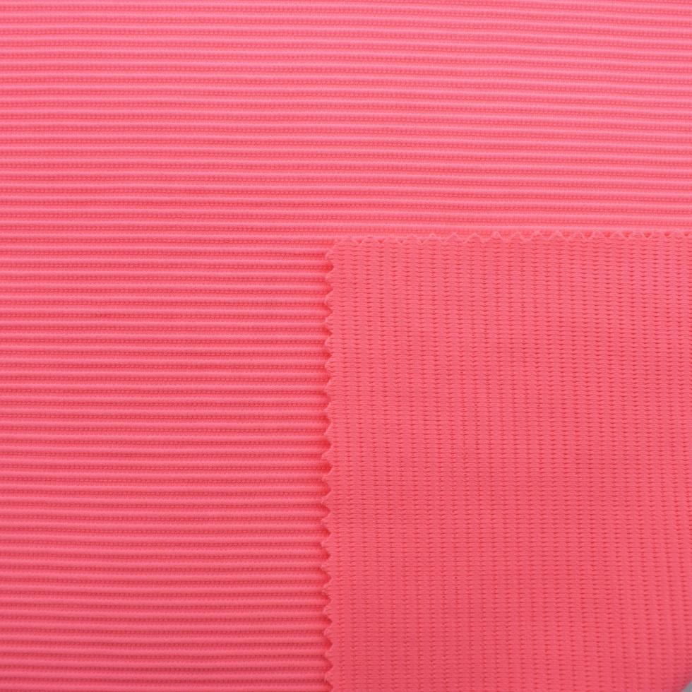 Stock custom rib knit fabric stretch twill fabric for swimwear bikini polyester spandex
