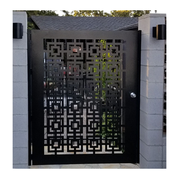 Laser Cut Custom Fabrication Aluminum Powder Coated Gate Designs Metal Sliding Garden Fence Gate