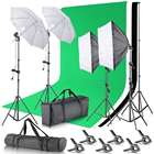 Professional Photo Green Screen Photography Backdrops Green/White/Black/Blue/Grey Muslin Polyester-cotton Professional Background For Photo Studio