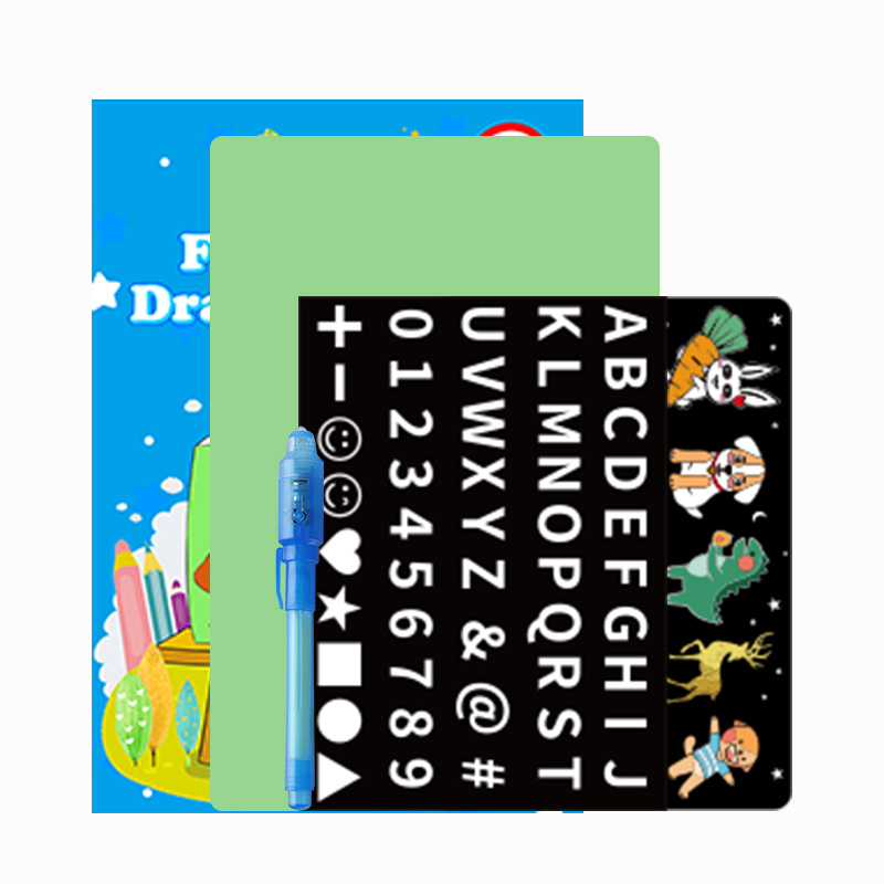 2021 new idea products A5 A4 magic pad glow in the dark drawing board for kids