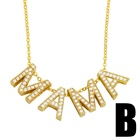 Day Copper Base Fashion Gold Plated Women Necklace White CZ Zircon Mom MAMA Necklace Mothers Day Gifts