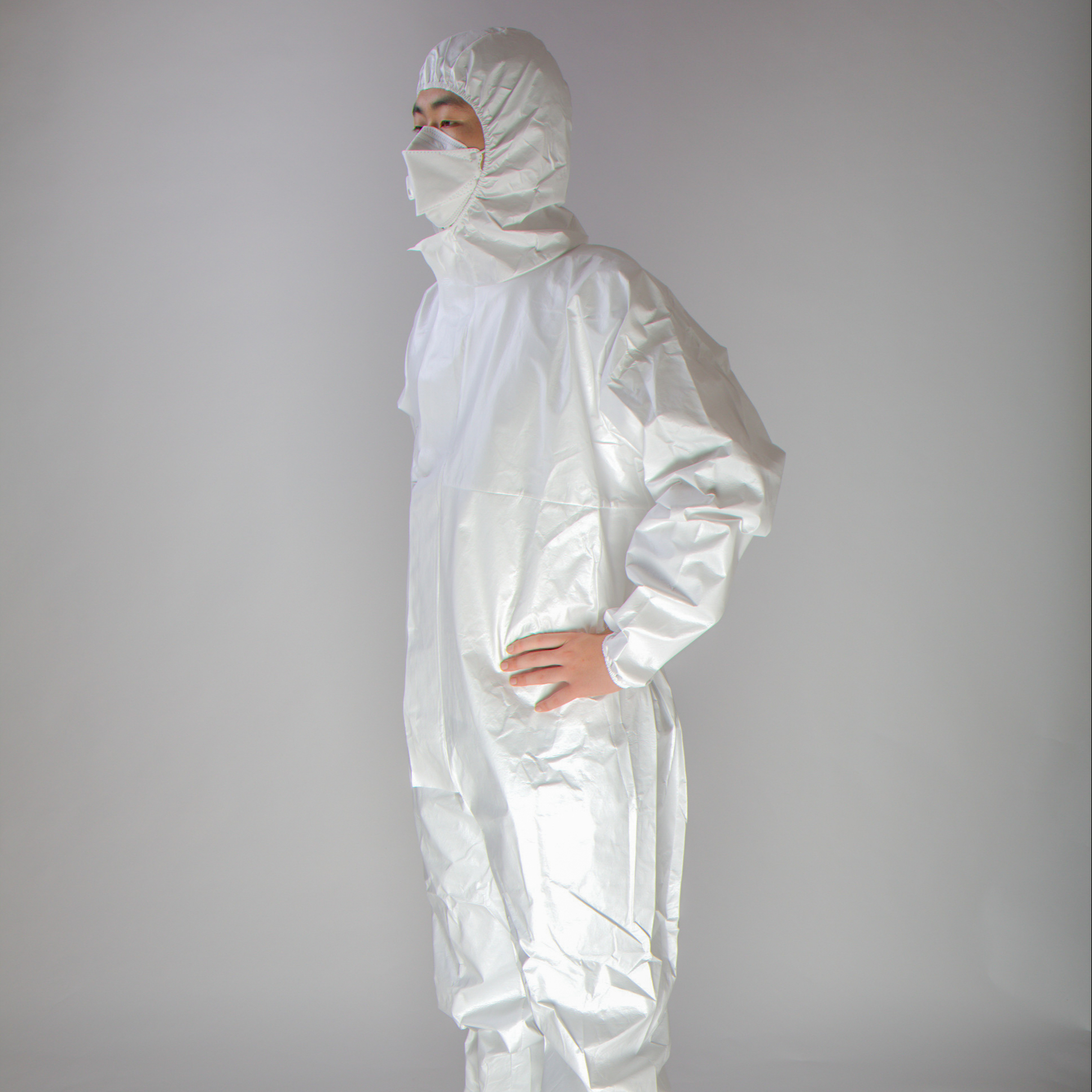 disposable non woven protective coverall disposable type 5B/6B full body cover garment men's suits with hood - KingCare | KingCare.net