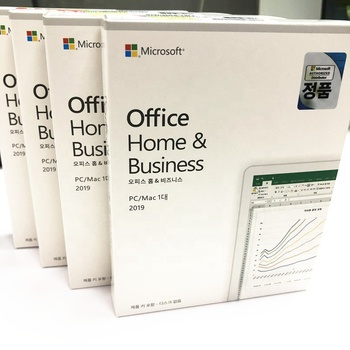 Lifetime used software Microsoft windows 10 pro PC MAC Korean language DVD Retail Box full Package Office 2019 Home and Business