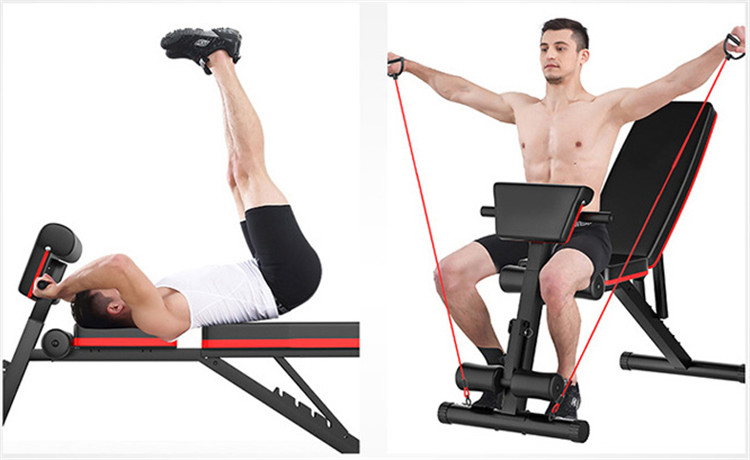 Banc Muscul Pro Folding Full Workout Fitness Belly Commercial Grade Adjustable Bench Curl Leg Extension Gym With Leg Extension