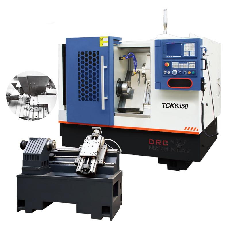 Cheap CNC Lathe TCK6350 Low Cost Horizontal Metal Slant Bed CNC Lathe