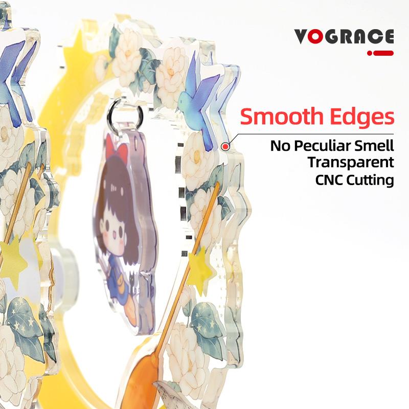Vograce, недорогой оригинальный персональный мультяшный аниме, милый акриловый стенд, оптовая продажа, двухсторонняя печать, пластиковые подвески, прозрачная подставка с набором