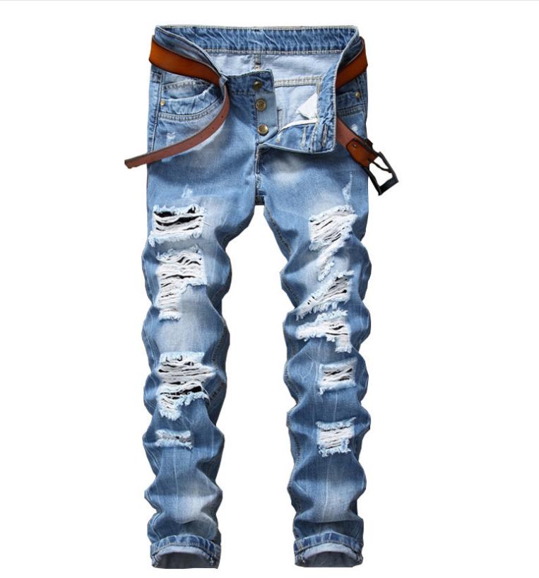 Pantalones Vaqueros Rasgados Para Hombre Vaqueros Con Agujeros Danados Multibotones A La Moda Buy Jeans Para Hombre Jeans Rasgados Para Hombre Jeans Para Hombre Product On Alibaba Com