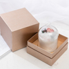 style 1(glass Gift box and wooden base)