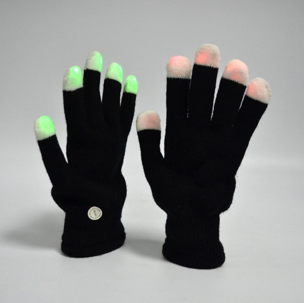 LED Skeleton Gloves Finger Lights 6 Modes Rave Gloves Party LED Lighted Gloves For Dance Dubstep Party Birthday