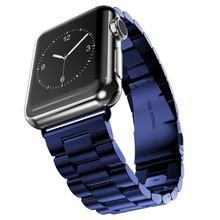 JANSIN роскошный ремешок из нержавеющей стали для Apple Watch 42 мм 38 мм 44 мм 40 мм браслет pulseira ремешок для iwatch серии 5 4 3 2 1(Китай)
