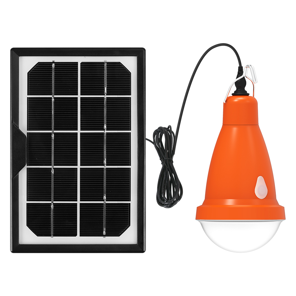 Led solar energy  bulb light  with split panel  remote  for SOS beach umbrella camping  hiking resort recharge solution