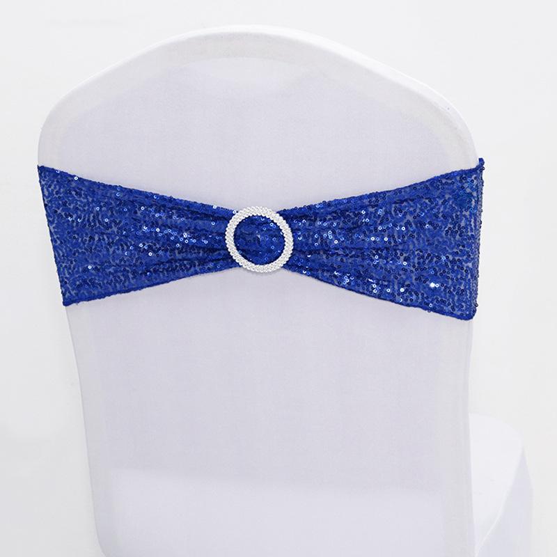 Оптовая продажа, эластичная лента из спандекса с блестками для свадебной вечеринки, украшение для стула, банкетного кресла