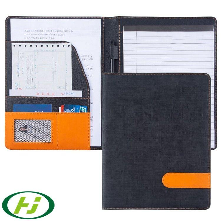 Индивидуальная Высококачественная папка для бумаг из искусственной кожи с тиснением A4, папка для файлов с пользовательским логотипом