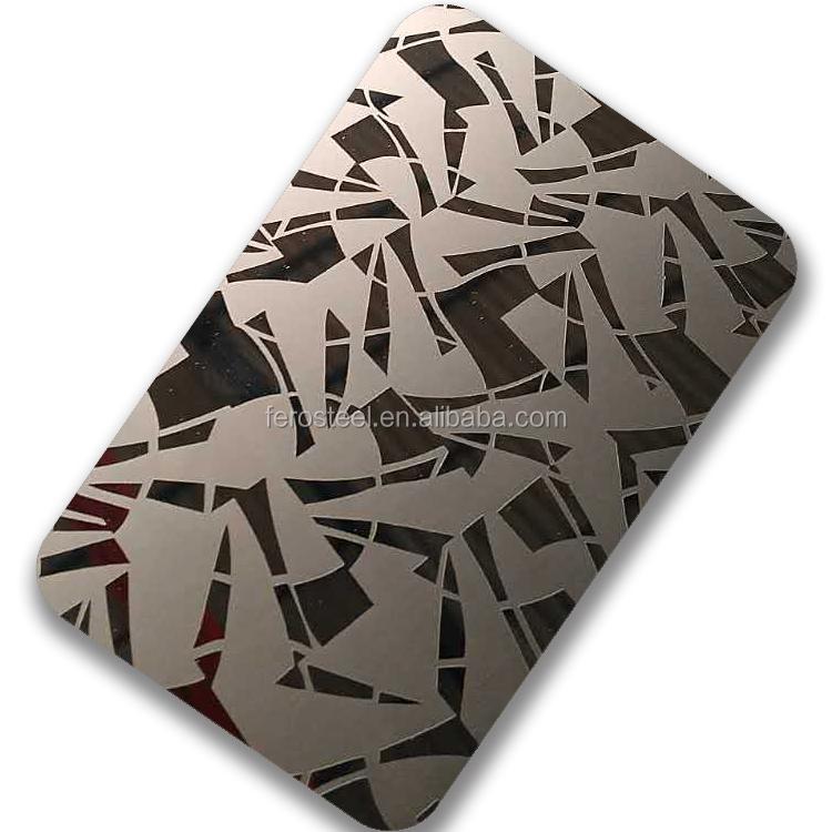 4*8 цветной лист из нержавеющей стали с зеркальной гравировкой по заводской цене