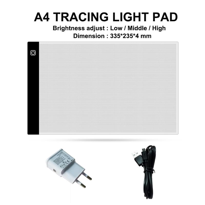 Акриловая светодиодная подсветка JSK A4, доска для рисования a4