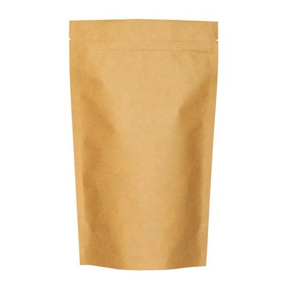 1 OZ - 32 OZ Упаковка из алюминиевой фольги пакет из крафт-бумаги Дой пак с молнией гибкая упаковка стоячие барьерные мешочки