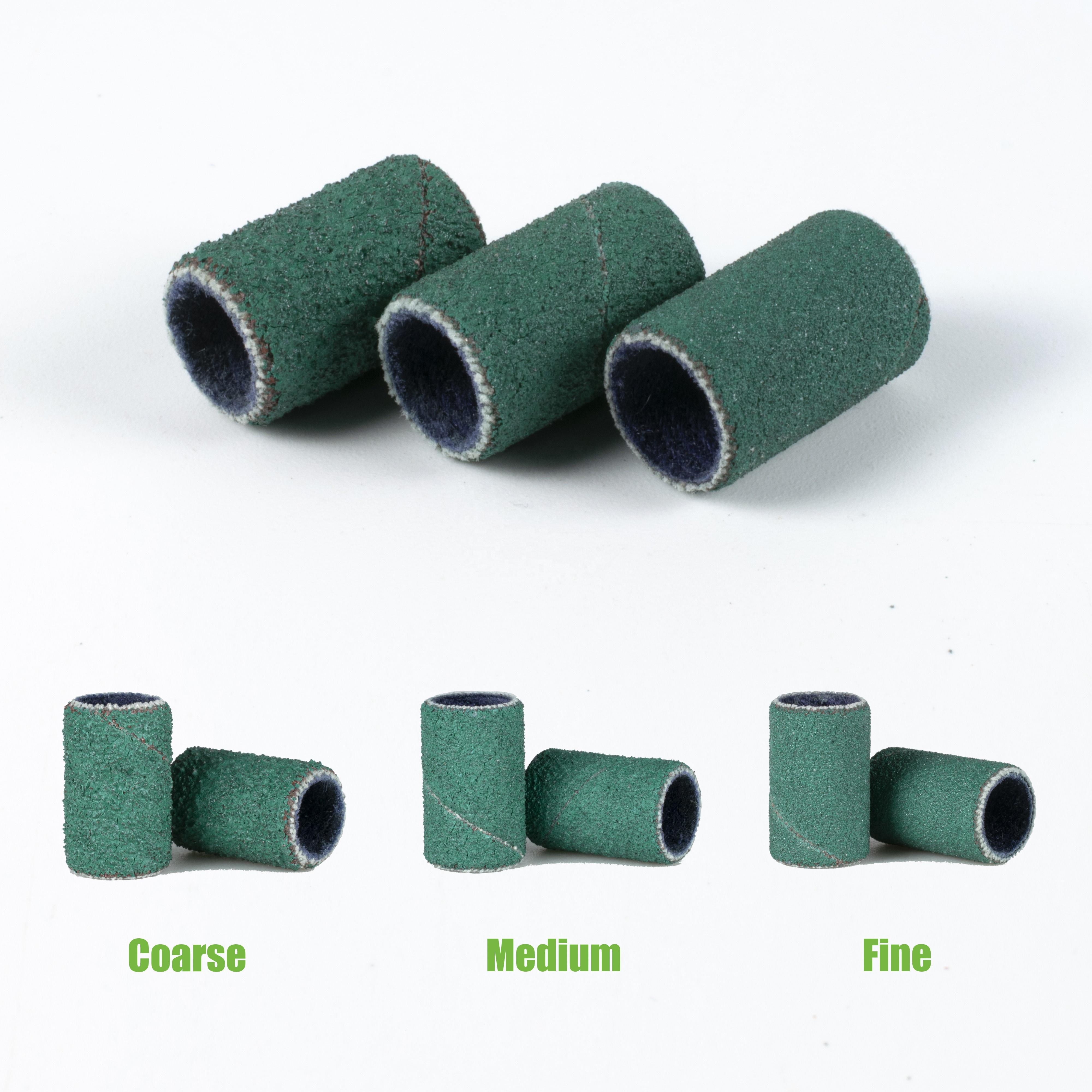 100 шт./пакет Norton прочный 100/180/240 порошок зеленого цвета шлифовальная насадка для маникюра, пилочка для ногтей шлифовальные ленты для фрез для маникюра/педикюра
