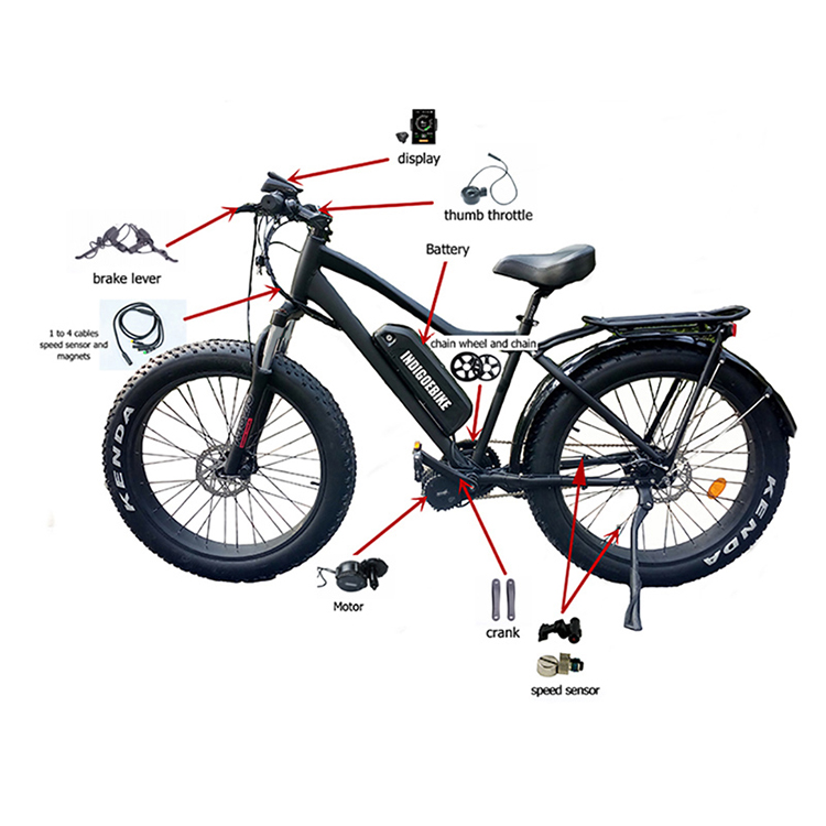 Electric Bicycle Battery 36/48/52V 18650/21700 Lithium Ion Tube Electric Bicycle Battery For Electric Bike